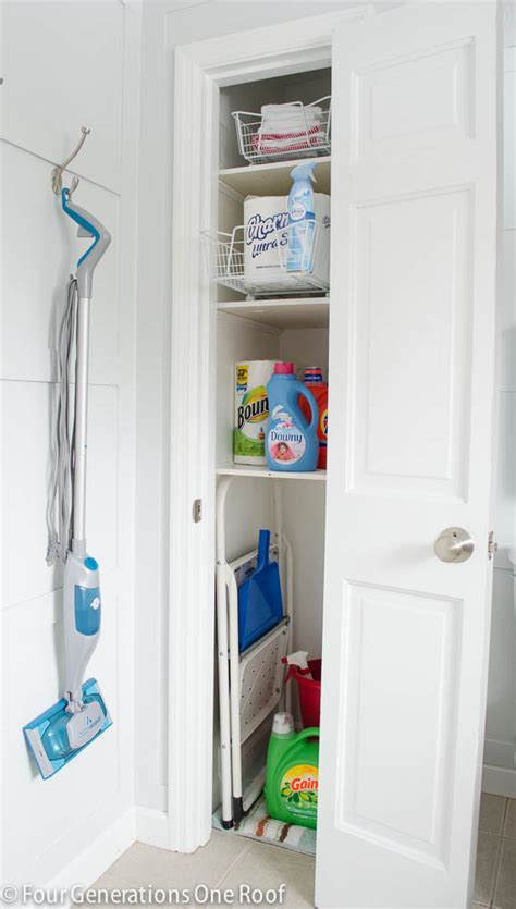 Utility Closet Storage by Our Small Closet Organization Project Reveal Four