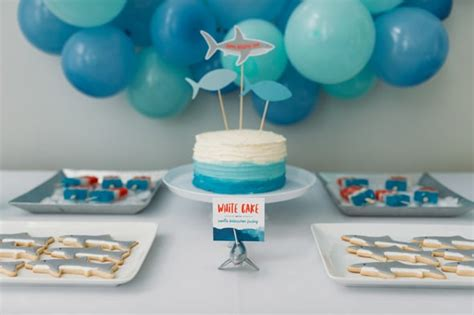 baby shark birthday theme jawsome shark themed birthday party