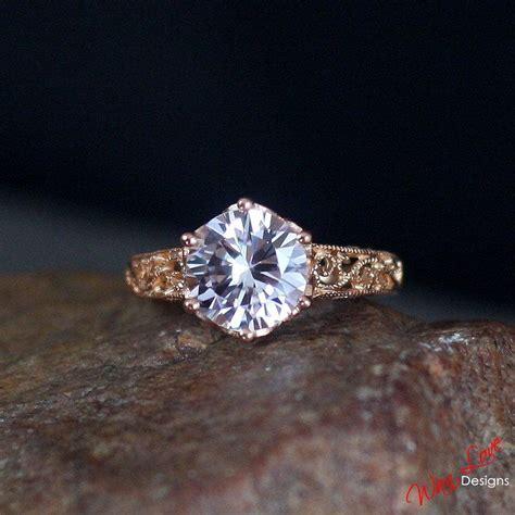 Black Sapphire 9 5ct pink sapphire engagement ring filigree milgrain solitaire