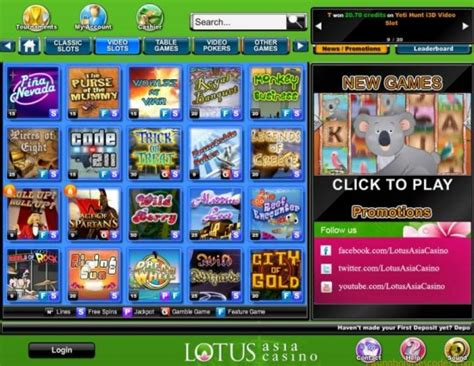 lotus asia casino best casino bonus