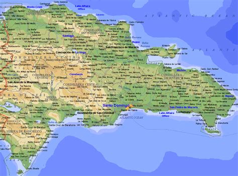 republic map dominikanische republik geographische karten der