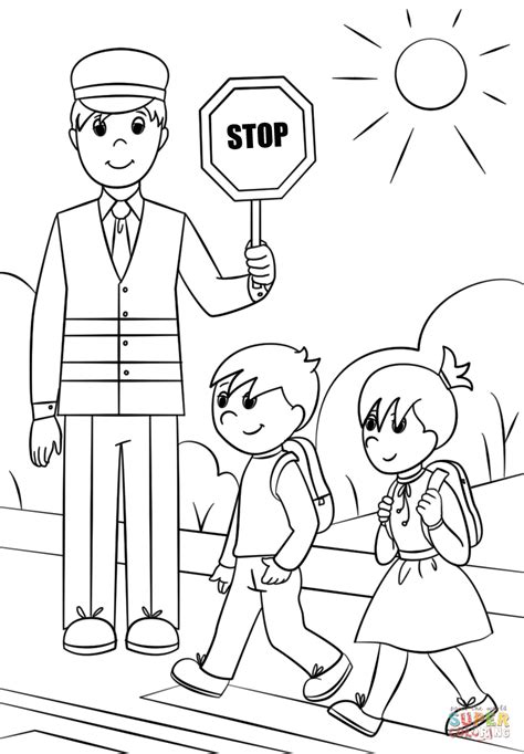 coloring pages guard crossing guard coloring page by wendy martin coloring