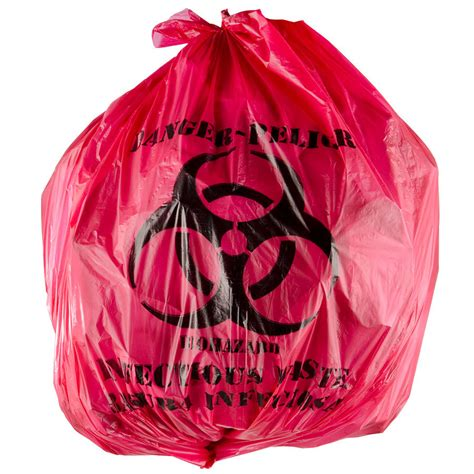 waste bags 7 gallon 17 quot x 18 quot isolation infectious waste bag biohazard bag high density 12