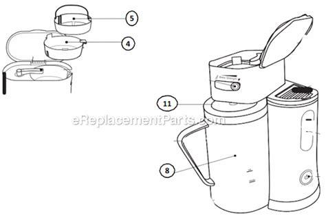 mr coffee parts diagram mr coffee bvmc tm33 parts list and diagram