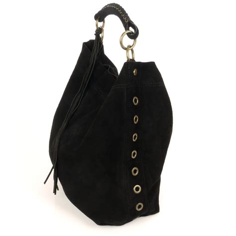 Black Shoulder Bag gwyneth black suede shoulder bag