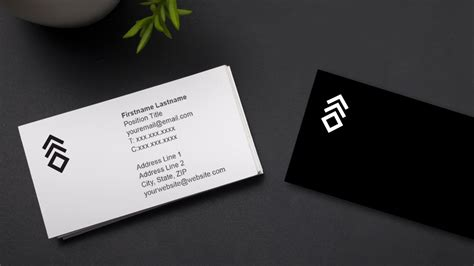 business card template with two addresses a better business card