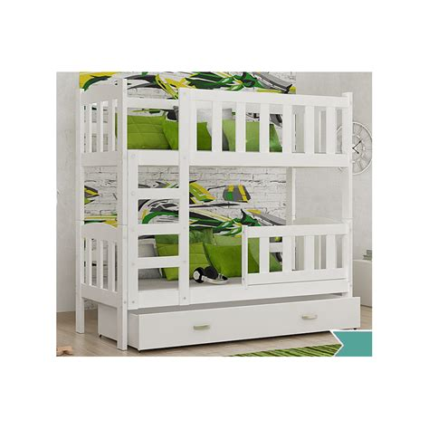 bunk beds with drawers uk solid pine wood bunk bed bambi with mattresses and drawers