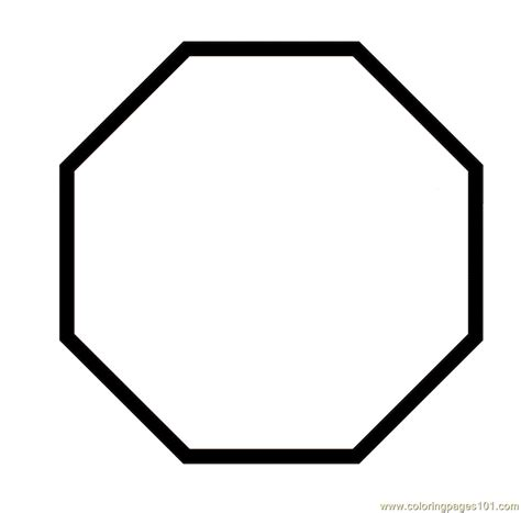 Coloring Pages Octagon Shape Education Gt Shapes Free Octagon Coloring Page