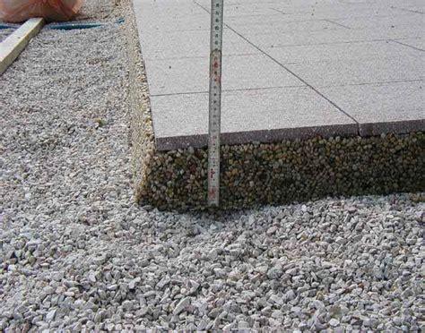 feinsteinzeug terrassenplatten in splitt verlegen drainageverlegung terrassenplatten eska drain drainestrich