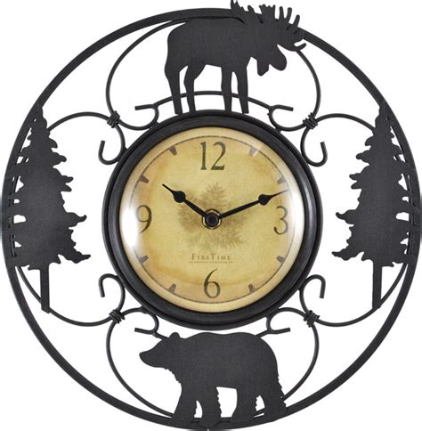 Dining Room Linens wildlife wire clock rustic wall clocks by firstime