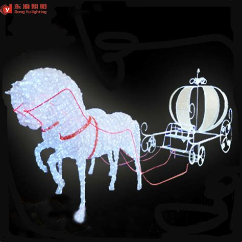 lighted christmas horse and carriage outdoor decoration carriage motif 3d led lighted and carriage for