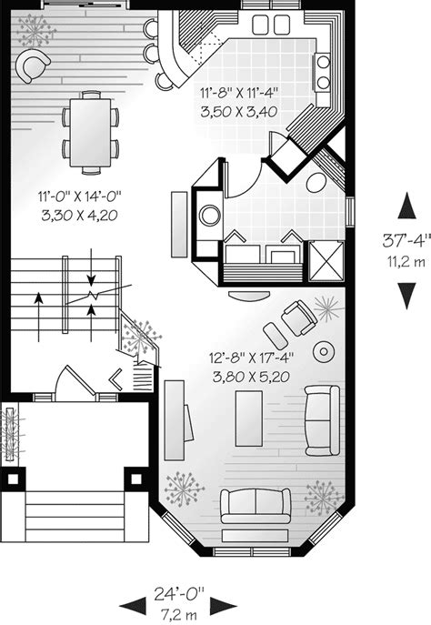 narrow townhouse floor plans comstock narrow lot townhouse plan 032d 0619 house plans