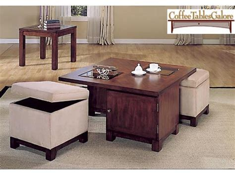 Square Ottoman Coffee Table With Storage Pearson Square Coffee Table With Storage Ottomans At Hayneedle
