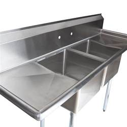 Commercial Sink Regency 72 Quot 16 Stainless Steel Two Compartment