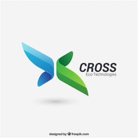 free design brand logo abstract cross logo vector premium download