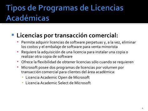 tipos de licencias de microsoft entrenamiento academico ms a partners sep 07