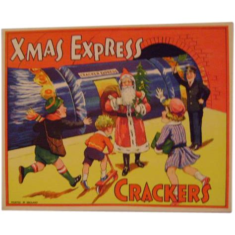 vintage christmas crackers paper label from paulannturner