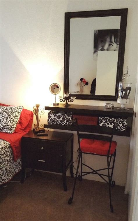 vanity area in bedroom small bedroom spaces vanity and makeup storage ideas