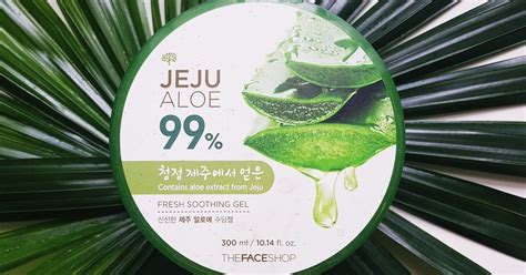 The Shop Jeju Aloe Soothing Gel the shop jeju aloe 99 fresh soothing gel review fishmeatdie