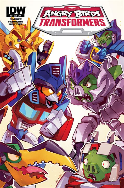 angry birds transformers 3 idw publishing