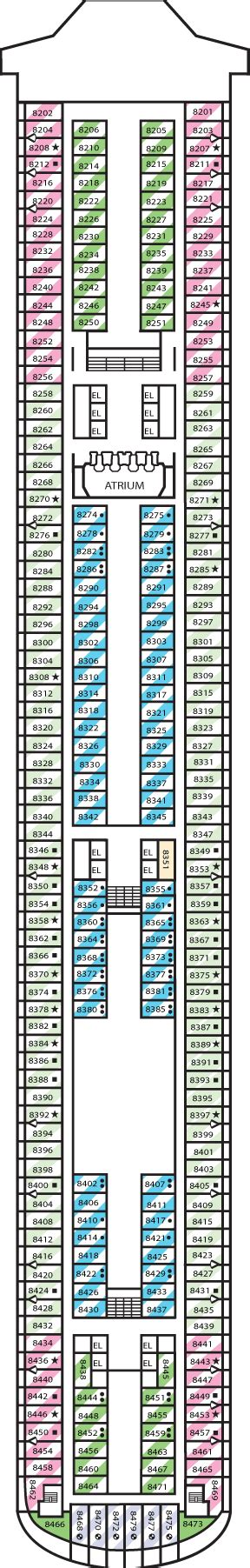 Carnival Dream Floor Plan by Carnival Dream Cruise Review For Cabin 8470