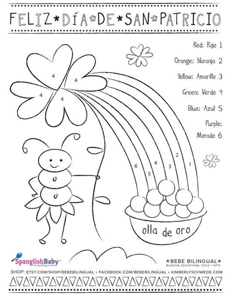 halloween coloring pages in spanish san patricio spanish activity sheets spanglishbaby com