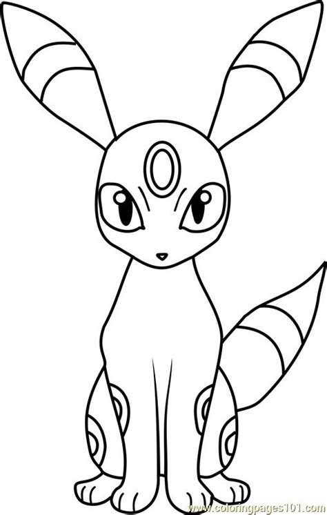umbreon pokemon coloring page pokemon coloring pages