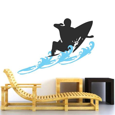 surfing wall stickers surfer wall decal with waves trendy wall designs