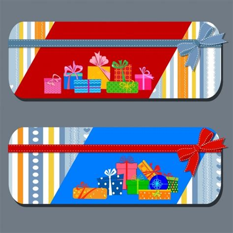 Gift Card Holder Template Illustrator by Gift Card Templates Present Box Icons Ribbon Ornament Free