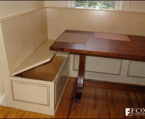 kitchen nooks with benches bench storage under the breakfast nook fox woodworking