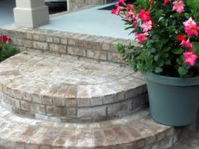 rounded brick front porch steps farmhouse nashville by front porch ideas and more