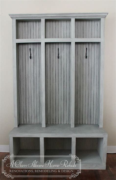 mudroom lockers with bench entryway mudroom locker bench 3 lockers shabby chic