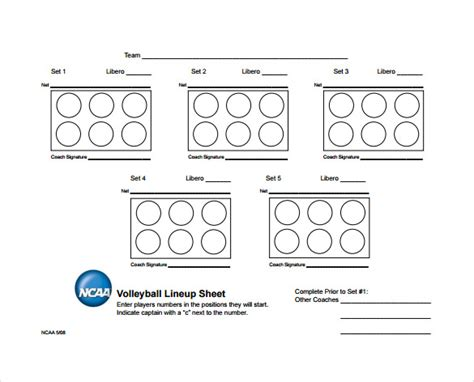 free printable volleyball lineup cards volleyball line up sheets www pixshark com images