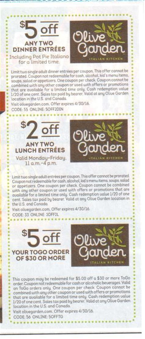Coupon Code For Olive Garden by New Olive Garden March 2016 Coupons Buyvia