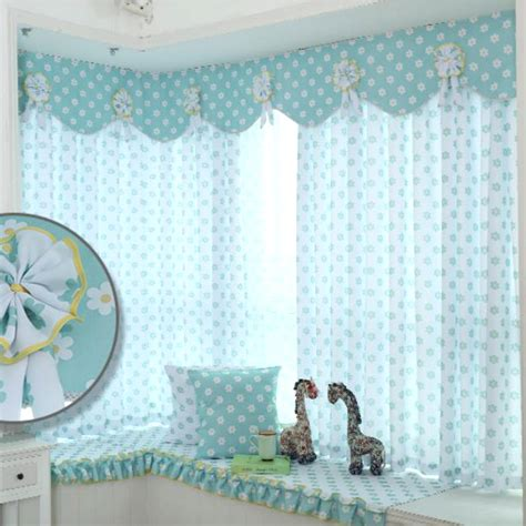 Baby Blue Curtains For Nursery White And Baby Blue Floral Print Polyester Insulated Curtains For Nursery Or Room