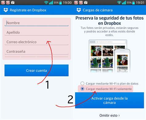 imagenes guardadas en la nube subir y guardar fotos en la nube con android y dropbox