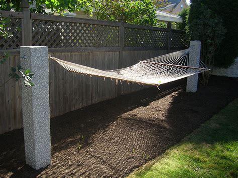 Installing Hammock Posts granite fence post gallery westwood mills