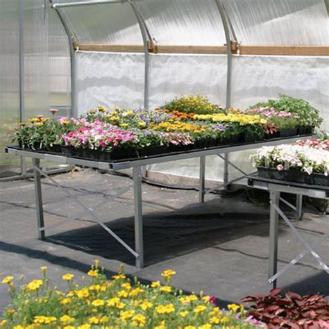 greenhouse benches commercial polymax bench system w legs 4 x 8 growers supply