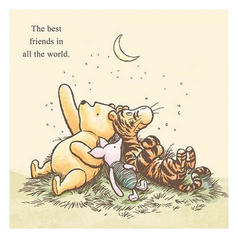 classic winnie the pooh the best friends in all the world stretched canvas print artissimo