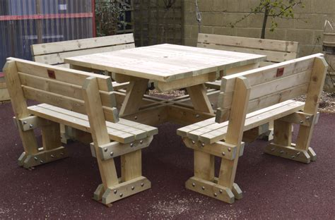 wooden bench and table picnic tables the wooden workshop oakford devon
