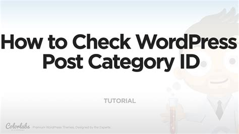 wordpress tutorial how to post tutorial how to check wordpress post category id youtube