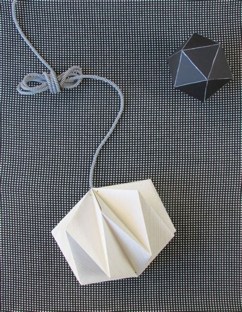 Origami Lantern - origami lshade made from wallpaper