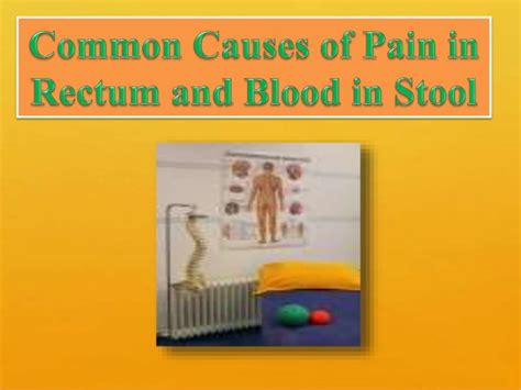 the common causes of in rectum and blood in stool