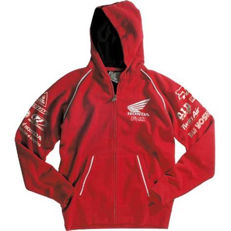 Sweater Hoodie Jumperzipper Honda indigodanazone ordertoday fox racing honda factory s hoody zip casual wear sweatshirt