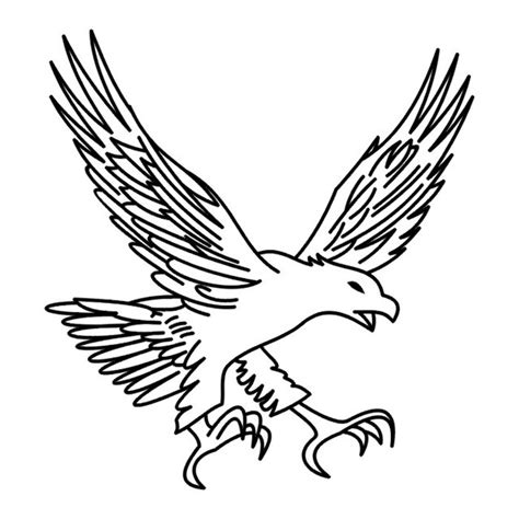 simple eagle tattoo designs simple eagle catching his prey design