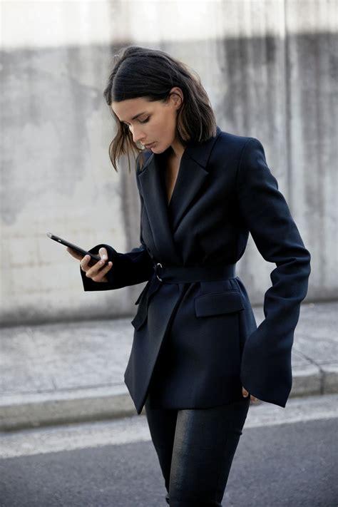 Blazer Pria Black Style Exclusive 69 black blazer cropped leather style harperandharley my style