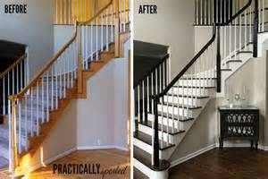 oak banisters how to gel stain oak banisters