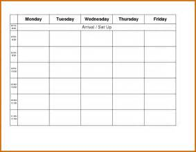 weekly schedule template monday friday 10 weekly planner template monday to friday lease template