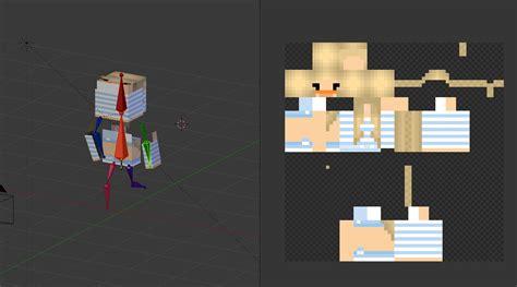 Templates Blender Minecraft   masking minecraft render animation skin not working
