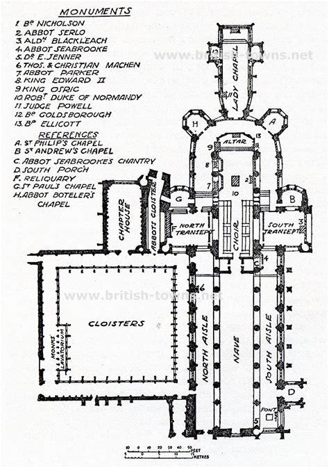 Examples Of Floor Plans Plan Of Gloucester Cathedral Of Gloucester Cathedral